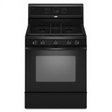 "Black Whirlpool® 30"" Self-Cleaning Freestanding Gas Range"