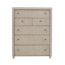 Sutton Place 6 Drawer Chest in Oak Brown