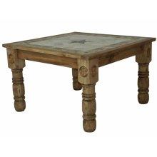 4'x4' Stone Dining Table W/Stone Star