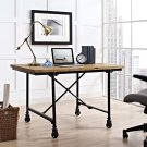 Raise Wood Office Desk in Brown Product Image