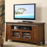 Craftsman Home - 62-inch TV Console - Americana Oak Finish Product Image