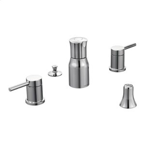 Align chrome two-handle bidet faucet Product Image