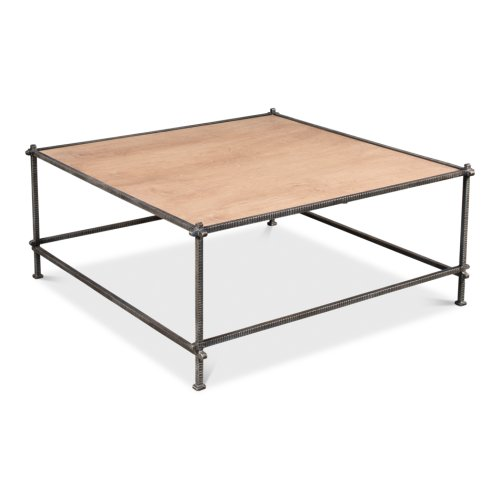 Mid-Century Square Coffee Table