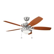 """Canfield Select LED 52"""" Fan Brushed Stainless Steel"""