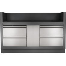 OASIS Under Grill Cabinet for Built-in Prestige PRO 825 , Grey