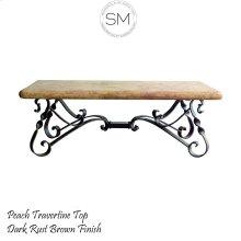 Travertine Rectangular Coffee Table