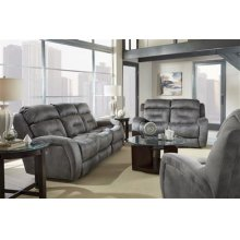 Power Reclining Console Loveseat with Power Headrest and Lumbar Upgrade