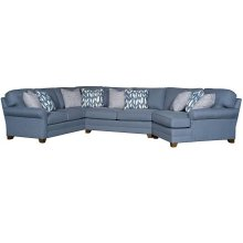 WINSTON LAF CORNER SOFA, WINSTON ARMLESS LOVESEAT, WINSTON RAF END WEDGE