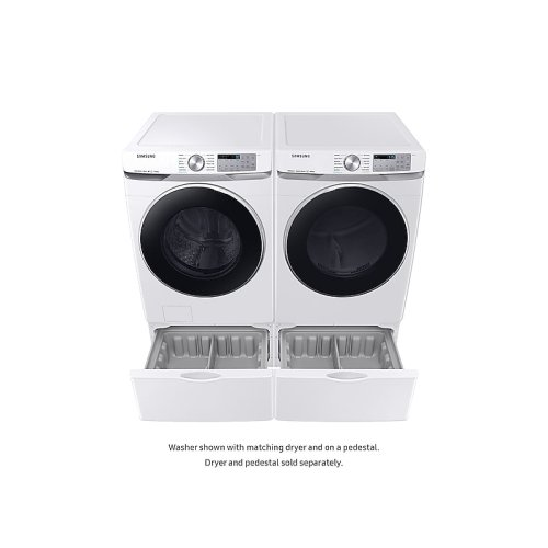 4 5 cu  ft  Smart Front Load Washer with Super Speed in White