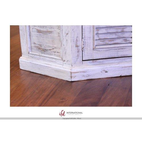 2 Door Corner TV-Stand - White Finish