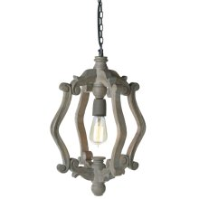 Greywash Carved Scroll Chandelier. 60W Max. Hard Wire Only.