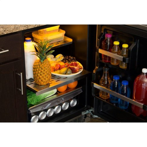 """Marvel Professional 24"""" All Refrigerator with Drawer Storage - Integrated Right Hinge, Professional Handle"""