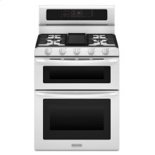 5-Burner Gas Freestanding Double Oven Range, Architect® Series II - White