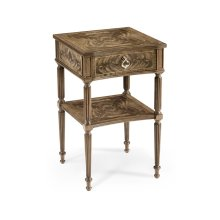 Regency Style Bleached Mahogany Bedside Table