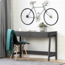 Secretary Desk with 2 drawers - Charcoal Gray Product Image