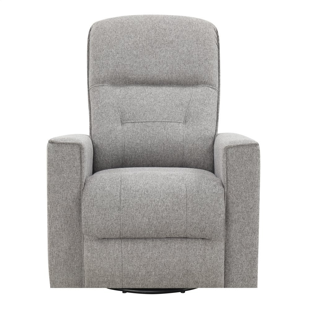 Emerald Home U7158-04-03 Landon Swivel Reclining Glider, Light Gray