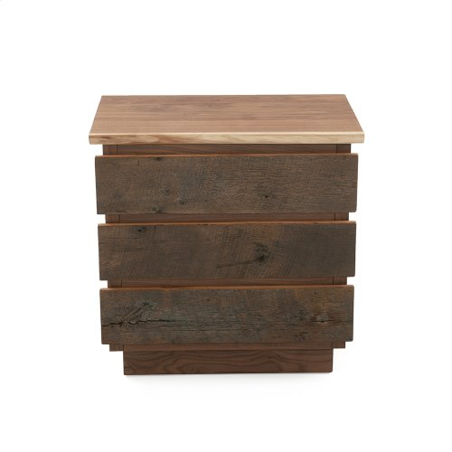 Hillsboro 5 Drawer Chest (barnwood or Walnut Option) - (barnwood Drawer Fronts)