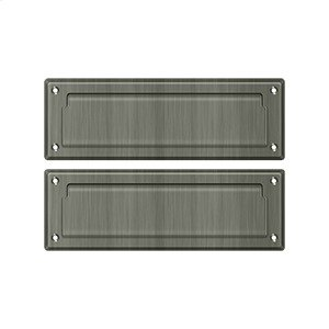 """Mail Slot 8 7/8"""" with Back Plate - Antique Nickel"""