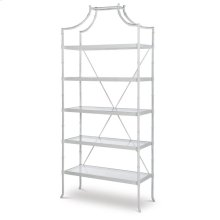 Cloud White Regency Metal Etagere