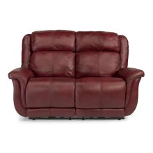 Brookings Leather or Fabric Reclining Loveseat