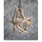 1 Light White Tail Inverted Chandelier Product Image