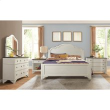 Grand Haven - Landscape Mirror - Feathered White Finish