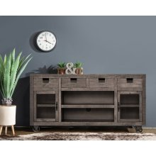 Industrial Grey Media Console