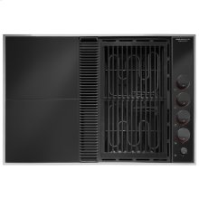 "Expressions™ Collection Modular Electric Downdraft Cooktop, 31"", Black"