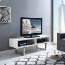 """Amble 47"""" Low Profile TV Stand in White Product Image"""