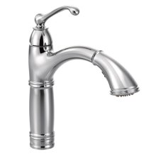 Brantford chrome one-handle pullout kitchen faucet
