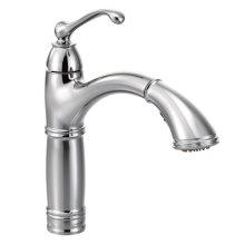 Brantford chrome one-handle pullout kitchen faucet