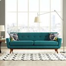 Engage Upholstered Fabric Sofa in Teal Product Image