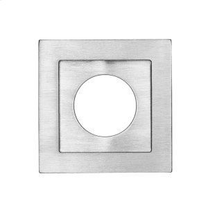 Square flush pull 65x65 with round cylinder hole, Antique Brass Dark Product Image