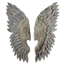 Greywash Angel Wing Wall Decor (one)