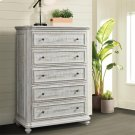Madison - Five Drawer Chest - Rustic White Finish Product Image