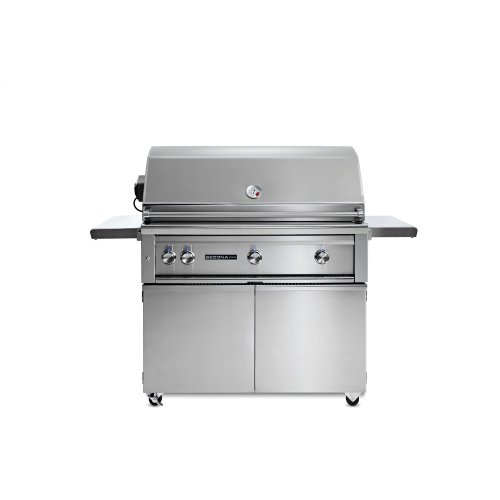 """42"""" Sedona by Lynx Freestanding Grill with 3 Stainless Steel Burners and Rotisserie, LP"""