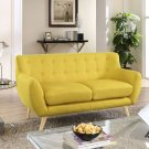 Remark Upholstered Fabric Loveseat in Sunny Product Image