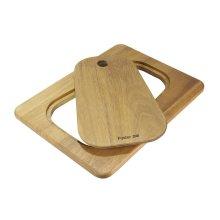 Iroko-wood sliding chopping board 8644 041