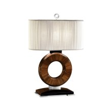 """Porthole"" table lamp with stainless steel"