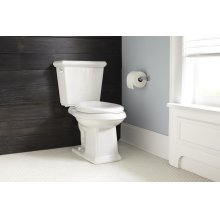 "White Logan Square 1.28 Gpf 12"" Rough-in Two-piece Elongated Toilet"
