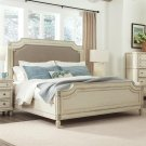 Huntleigh - Full/queen Carved Upholstered Headboard - Vintage White Finish Product Image