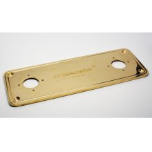 UNION Floor Plate - Unlacquered Brass