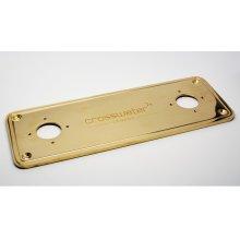 UNION Floor Plate - Unlacquered Brass