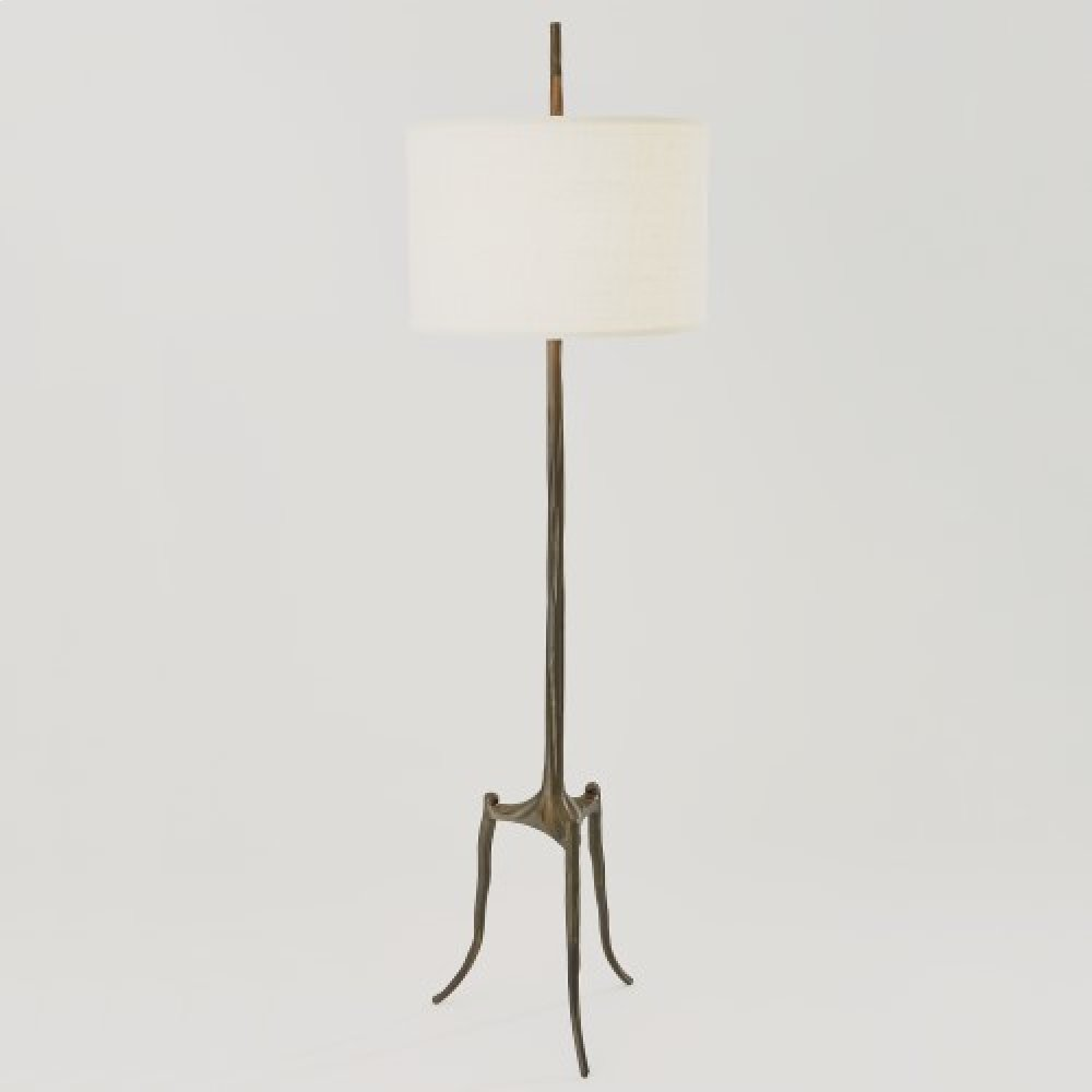 Trident Floor Lamp-Bronze