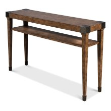 Quatrain Console Table, Light Mink