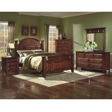 Drayton Hall 5/0 Q Bed - Q Poster Footboard