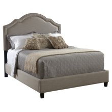Shaped Nailhead Upholstered Headboard Queen