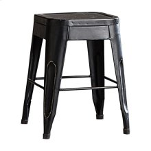 "18"" Metal Stool, Black"