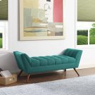 Response Medium Upholstered Fabric Bench in Teal Product Image