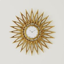 Dahlia Wall Clock-Brass